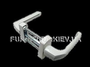 Балконная ручка двухсторонняя белая, фото 2