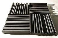 Панель из акустического поролона Ecosound Manhattan mini. 100 мм 0,66мх0,6м Цвет черный графит, фото 1