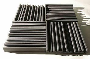 Панель з акустичного поролону Ecosound Manhattan mini. 100 мм 0,66мх0,6м Колір чорний графіт