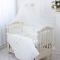 Детский постельный комплект из 6  элементов Принцесса, молочный, фото 1