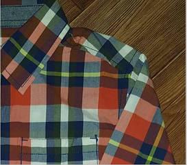 Рубашка в   крупную клетку  красная Gymboree (США) (Размер 10-12 лет)