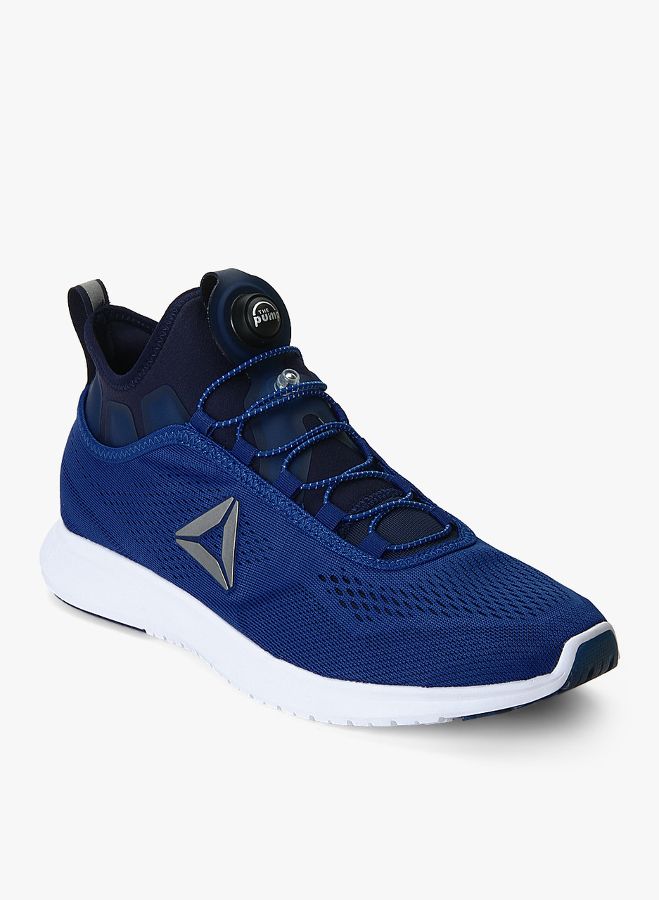 Мужские кроссовки Reebok Pump Plus Ultraknit синие с белым