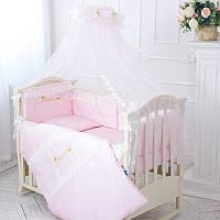Детский постельный комплект из 6  элементов Принцесса, розовый, фото 1