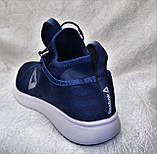 Мужские кроссовки Reebok Pump Plus Ultraknit синие с белым, фото 6
