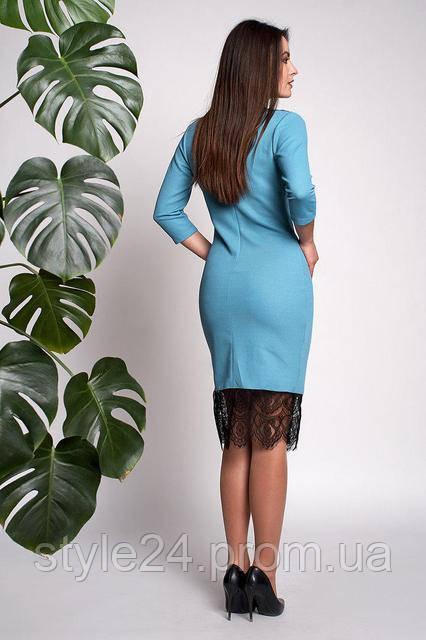 ЖІноче нарядне плаття з гіпюром на декольте та внизу.Р-ри 44-56 ... 320fe9efe0779