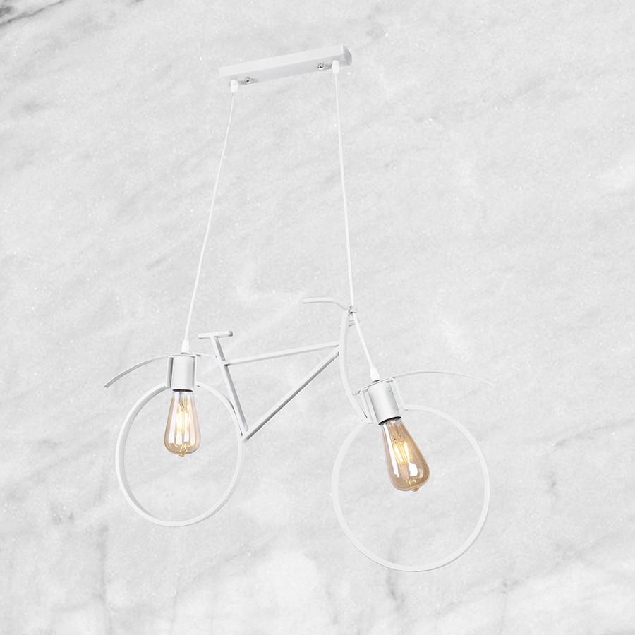 Белый велосипед