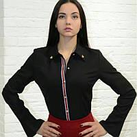 Блузка рубашка женская черная Италия