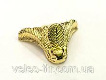 Ножка для шкатулок Листики золото 20х22 мм