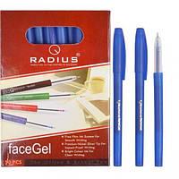 """Ручка """"Faсe Gel"""" RADIUS 50 штук, синяя"""