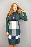 Дженні. Сукня для жінок великих розмірів. Смарагд.