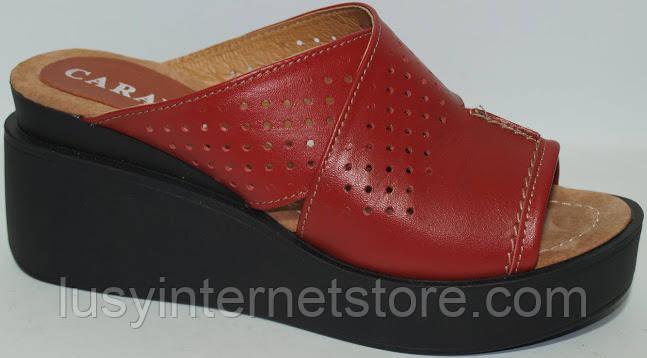 dbc03295c9d1 Летние кожаные босоножки на танкетке, босоножки женские от производителя  модель ...