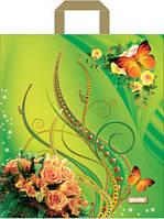 Полиэтиленовые пакеты с петлевой ручкой 40x45 см / (уп-25 шт)