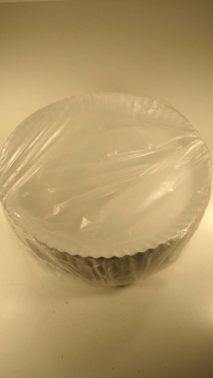 Тарелки бумажные белые 275мм, 100 шт/пач