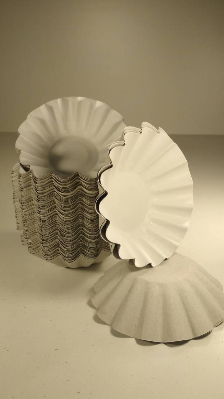 Тарелка бумажная для салата , мороженого 140мм белая (100 шт)