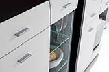 Комод дводверний у вітальню білий/графіт ДСП Clif GL Furnival, фото 4
