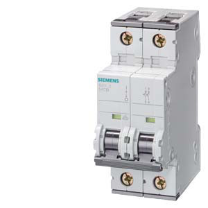 Автоматический выключатель Siemens (10кA, 2-пол, D20A), 5SY4220-8