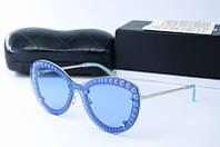 Солнцезащитные очки Chanel синие, фото 1