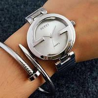 Женские часы Gucci Style серебристые, фото 1