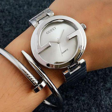 Женские часы Gucci Style серебристые