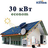 """Мережева сонячна електростанція 30 кВт """"econom"""" під """"ключ"""""""