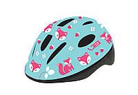 Шлем детский Green Cycle Foxy размер 48-52см мятный, малиновый, розовый лак (HEL-59-75)