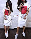 Стильне жіноче пряме сукня з розрізами і нашивкою (4 кольори), фото 8