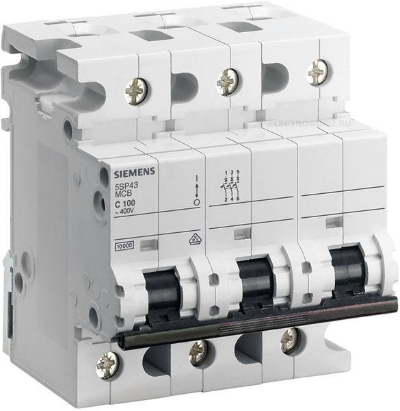 Автоматический выключатель Siemens (10кA, 3-пол.), 5SP4391-7