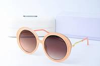 Солнцезащитные очки Chloe круглые бежевые, фото 1