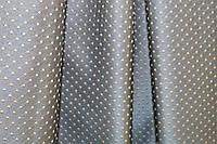 Шторы ткань в спальню горох бирюза