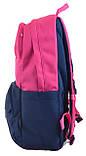 Рюкзак молодежный OX 355, 45.5*29.5*13.5, роз.-синий, фото 3