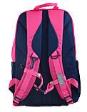 Рюкзак молодежный OX 355, 45.5*29.5*13.5, роз.-синий, фото 4