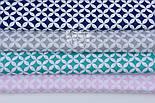 Набор хлопковых тканей 40*40 см с сеткой из лепестков из 4 шт, фото 4