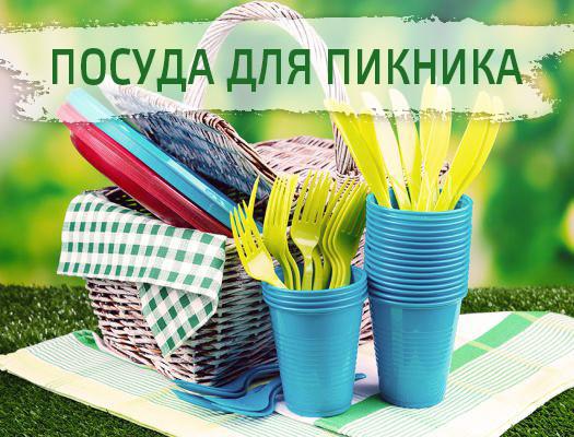 Посуда для пикника и туризма