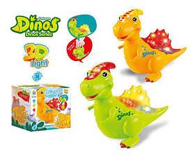 Динозавр музыкальный 3D свет, 2 цвета, на батарейках.
