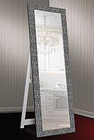 Зеркало напольное factura в Итальянском дереве с опорной деревянной подставкой 60х174 см графитовое