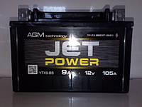 Мото аккумулятор Jet Power 9Ah Gel