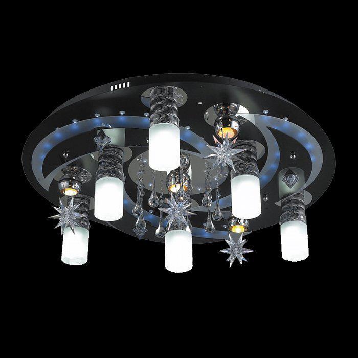Яркая потолочная люстра с пультом и подсветкой 8054-6+4