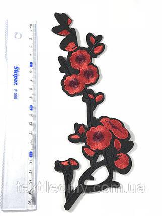 Нашивка Цветок 19 бутонов 90x232 мм, фото 2