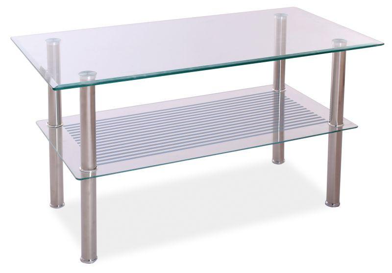 Журнальний кофейний стіл зі скла у вітальню Pixel B Signal