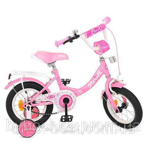 Велосипед детский PROF1 12д. Y1211 Princess,розовый