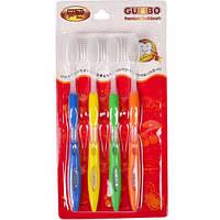 "Набор зубных щеткок ""Nano"" 18,5 см на блистере 4 шт"
