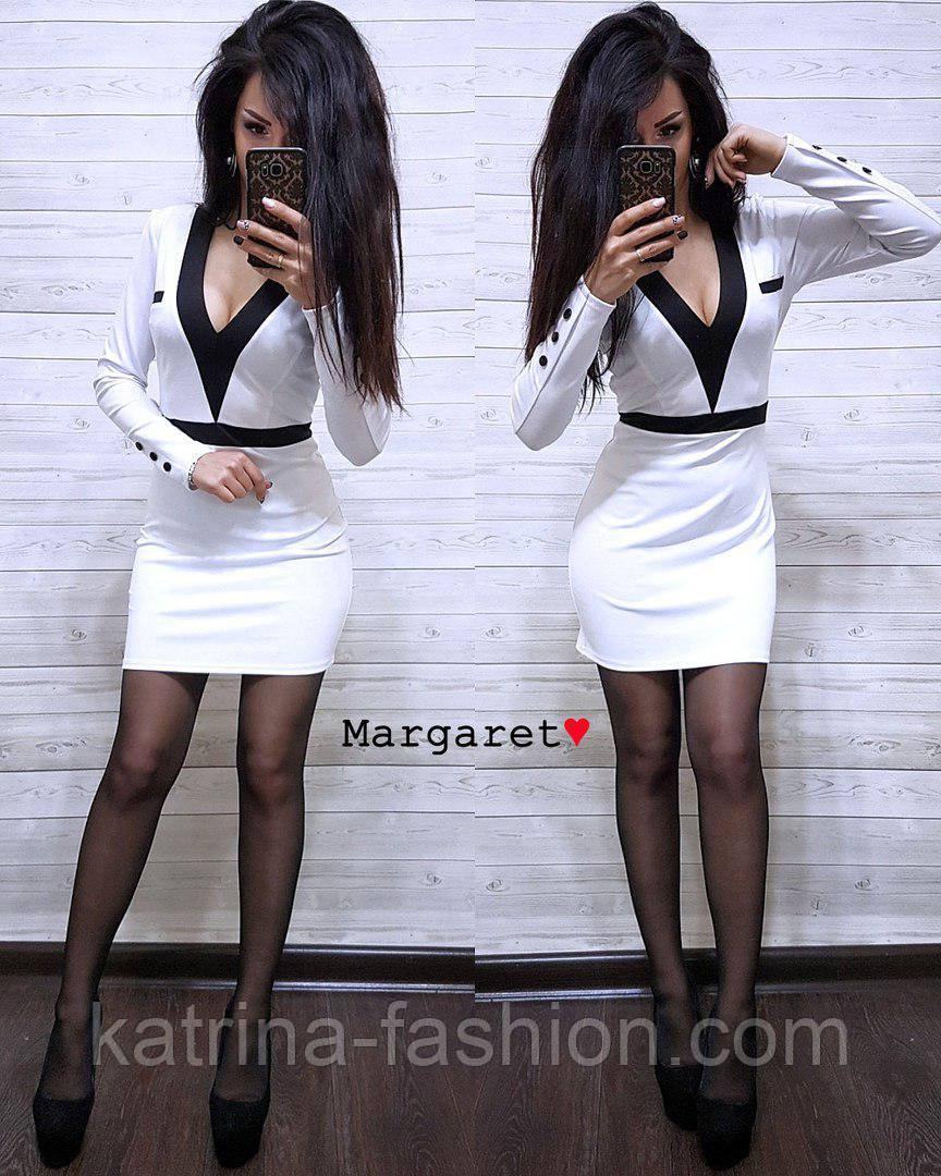 Женское стильное силуэтное платье (5 цветов)