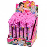 """Ручка детская с канатиком 10 цветов """"Принцессы"""""""