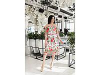 Женское платье сетка+розы
