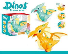 Динозавр музыкальный, светится, на батарейках, 2 цвета