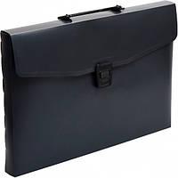 Портфель пластик разборной А4 черный