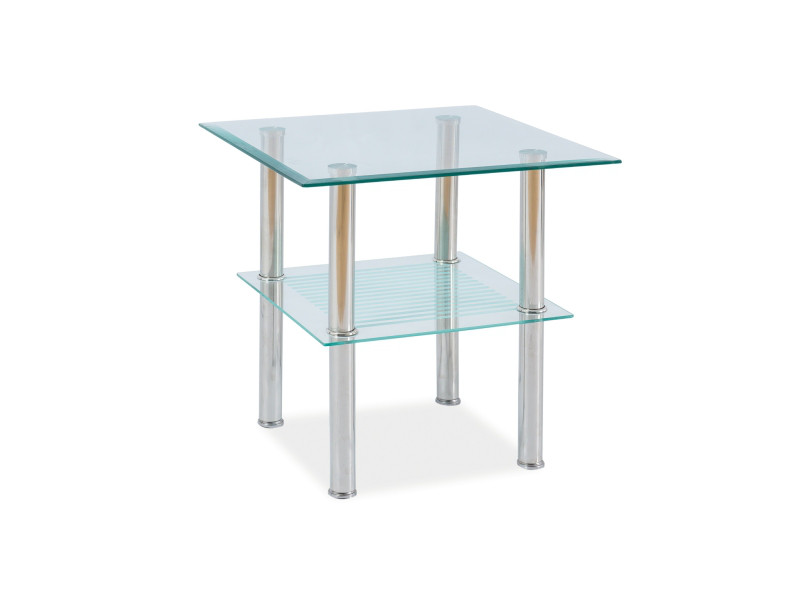 Журнальний кофейний стіл зі скла у вітальню Pixel C Signal