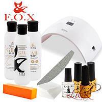Стартовый набор для покрытия гель лаком F.O.X с лампой SUN 9S 24 W № 1