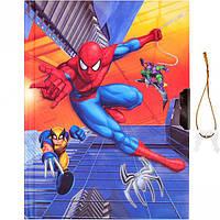 "Блокнот А6 на замочке ""Человек паук"""