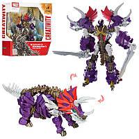 Трансформер Creativy робот-ящер-динозавр, в набор входит 2 меча, высота 30см